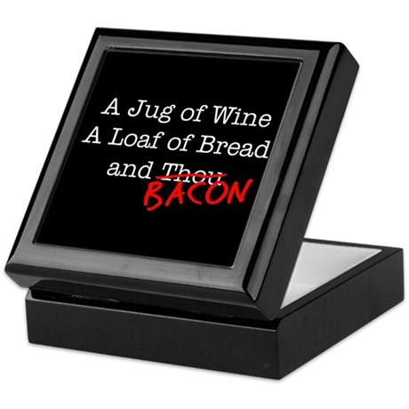 Bacon A Jug of Wine Keepsake Box