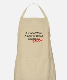 Bacon A Jug of Wine Apron