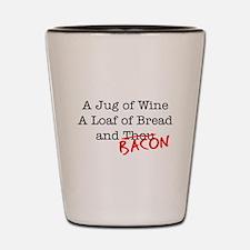 Bacon A Jug of Wine Shot Glass