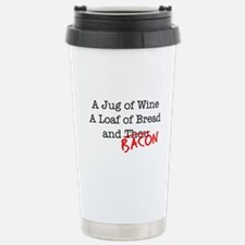 Bacon A Jug of Wine Stainless Steel Travel Mug