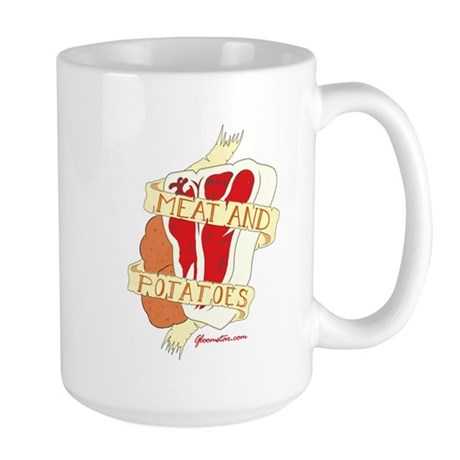 Meat and Potatoes Large Mug