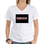 noteBlack.jpg Women's V-Neck T-Shirt