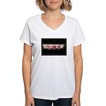 noteBlack.jpg Women's V-Neck T-Shirt