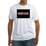 noteBlack.jpg Fitted T-Shirt