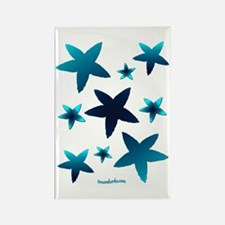 Aquamarine Starfish Rectangle Magnet
