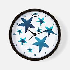 Aquamarine Starfish Wall Clock