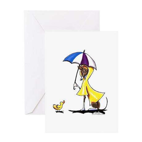 Italian Greyhound Raincoat Greeting Card