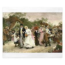 The Village Wedding by Luke Fildes King Duvet