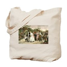 The Village Wedding by Luke Fildes Tote Bag