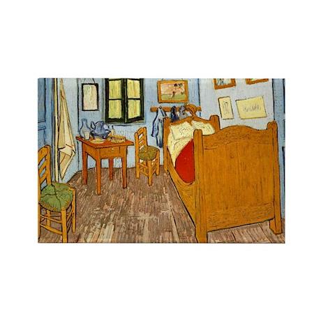 Bedroom at Arles Rectangle Magnet