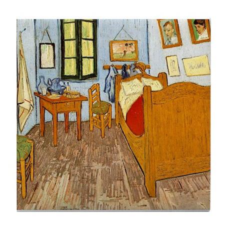 bedroom at arles tile coaster by kimscustomtees