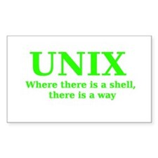 Unix - Where there is a Shell, there is a Way Stic