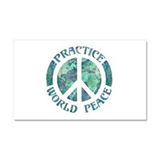 Practice World Peace Car Magnet 20 x 12