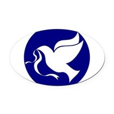 dovepeace.png Oval Car Magnet