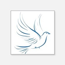 "dove2.png Square Sticker 3"" x 3"""