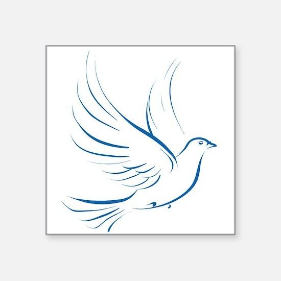 """dove2.png Square Sticker 3"""" x 3"""""""