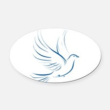 dove2.png Oval Car Magnet