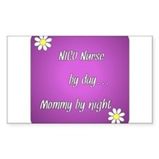 NICU Nurse by day Mommy by night Decal