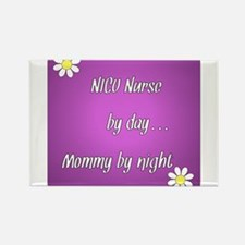 NICU Nurse by day Mommy by night Rectangle Magnet