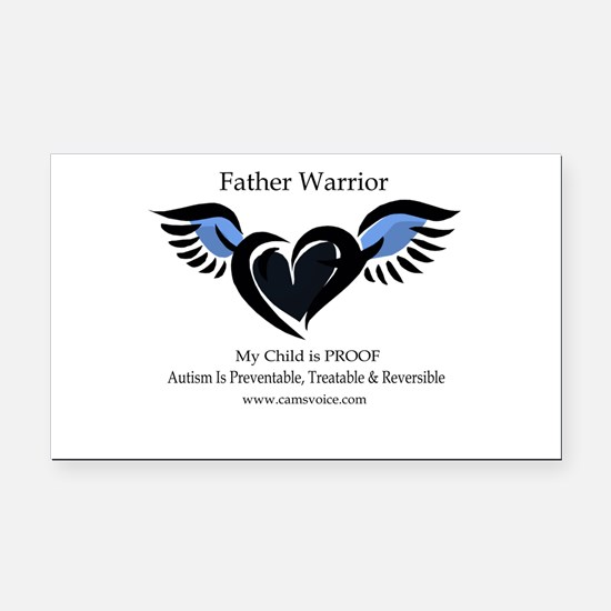Autism Father Warrior Rectangle Car Magnet