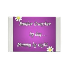 Number Cruncher by day Mommy by night Rectangle Ma
