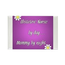 Obstetric Nurse by day Mommy by night Rectangle Ma