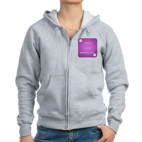 Optician by day Mommy by night Women's Zip Hoodie