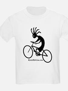 Kokopelli Mountain Biker Kids T-Shirt