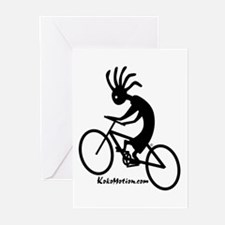 Kokopelli Mountain Biker Greeting Cards (Package o