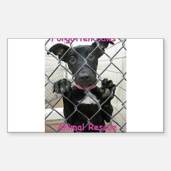 Forgotten Paws Logo Sticker (Rectangle)