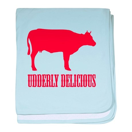 BBQ is Udderly Delicious baby blanket