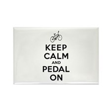 Keep Calm and Pedal On Rectangle Magnet