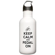 Keep Calm and Pedal On Water Bottle