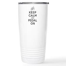 Keep Calm and Pedal On Travel Mug