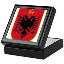 albania coat of arms Keepsake Box