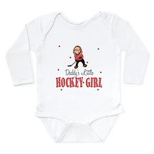 Daddy's Little Hockey Girl Baby Body Suit