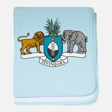 swaziland coat of arms baby blanket