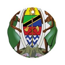 tanzania coat of arms Ornament (Round)
