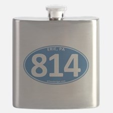Blue Erie, PA 814 Flask