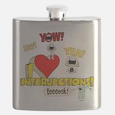 I Heart Interjections - Schoolhouse Rock! Flask