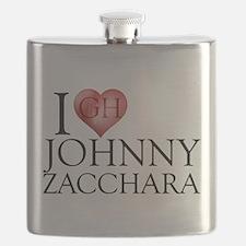 I Heart Johnny Zacchara Flask