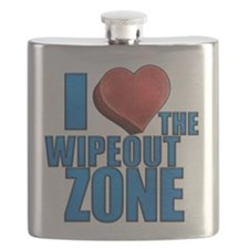 Wipeout - I Heart the Wipeout Zone Flask