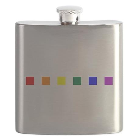 Rainbow Pride Squares Flask