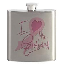 I Heart/Support My Grandma Flask