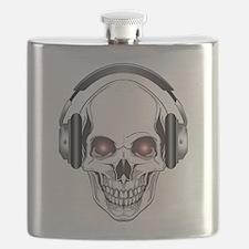 Red Eye DJ Skull Bone Flask