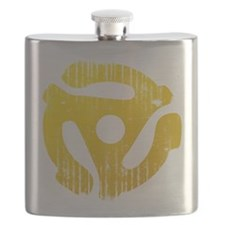Distressed Yellow 45 RPM Adapter Flask