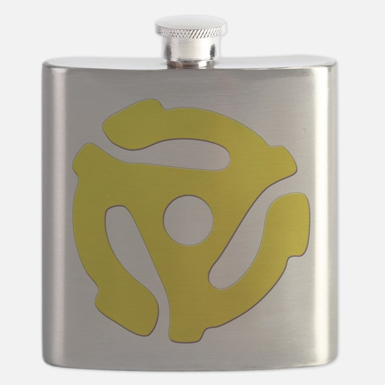 Yellow 45 RPM Adapter Flask