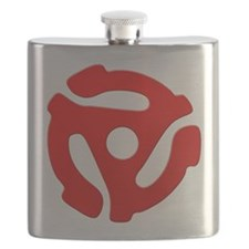 Red 45 RPM Adapter Flask