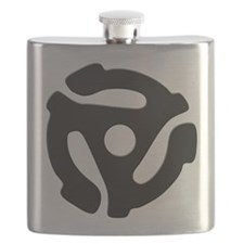 Black 45 RPM Adapter Flask