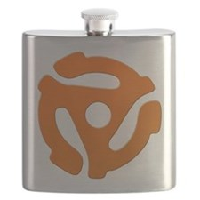 Orange 45 RPM Adapter Flask